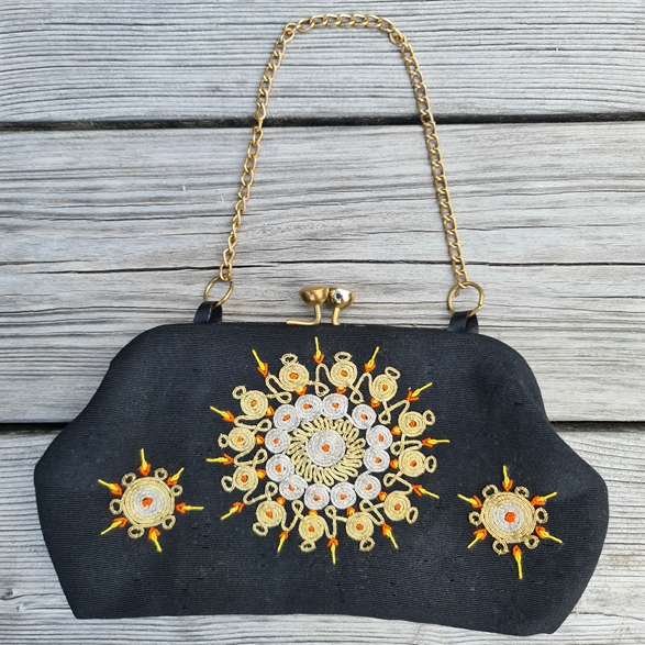 Vintage handväska/aftonväska, svart