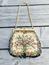 Vintage handväska/aftonväska, beige