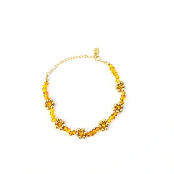 Flower Amber Bracelet