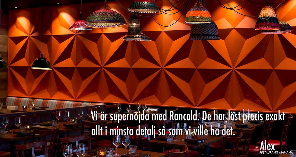 Restaurang Manana Rancold Koncept
