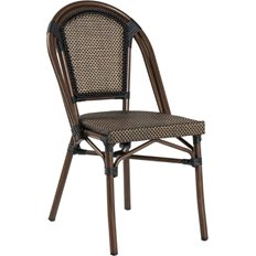 Xirbi Paris stol, Stabelbar, Svart/brun textylene
