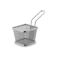 Patina Mini frityrkorg i rostfritt, konisk stapelbar, 24 st/fp