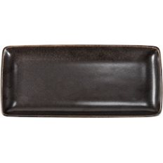 Xantia Tallrik flat 28x12,5 cm Rhea, Fältspatporslin, brun/svart, 4 st