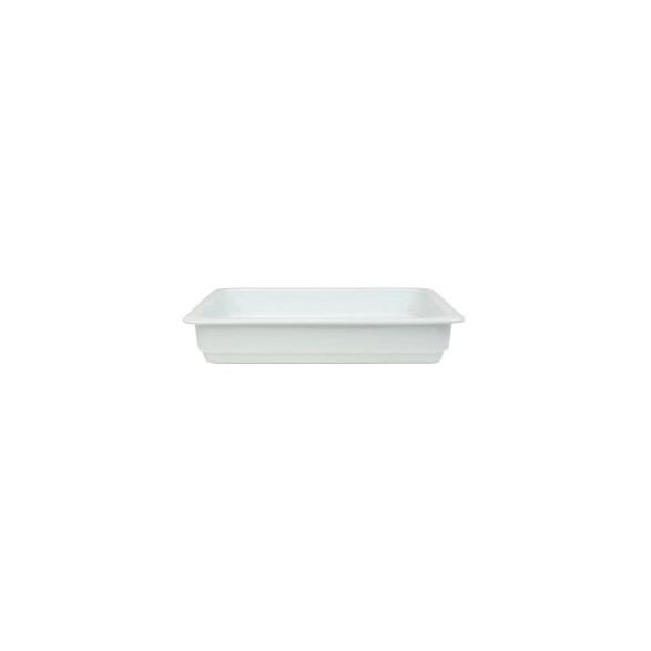Exxent Form GN 1/2, 6 cm, Fältspatporslin