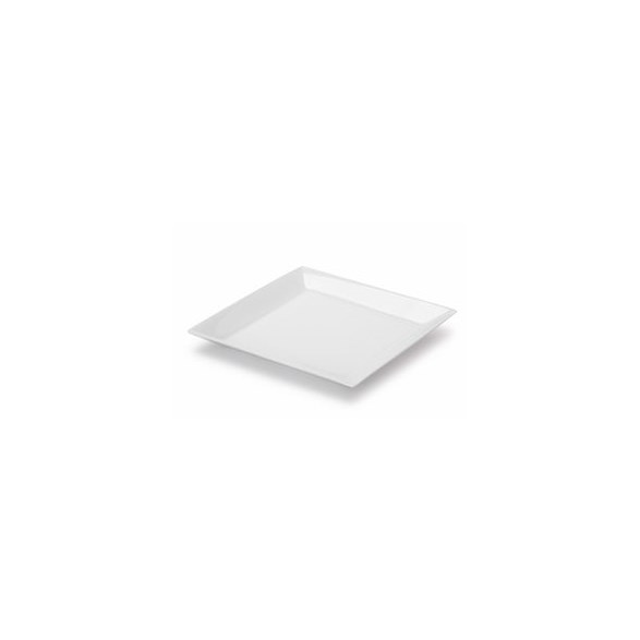 Exxent Tallrik flat 27x27 cm Quadro, Fältspatporslin, 6 st
