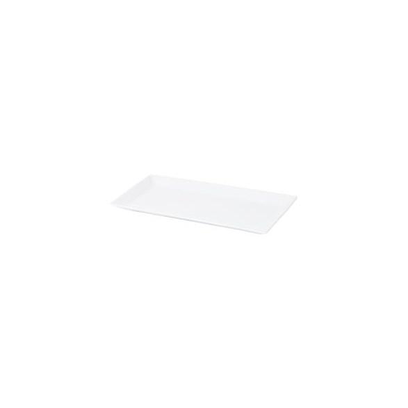 Exxent Tallrik flat 36x18 cm Quadro, Fältspatporslin