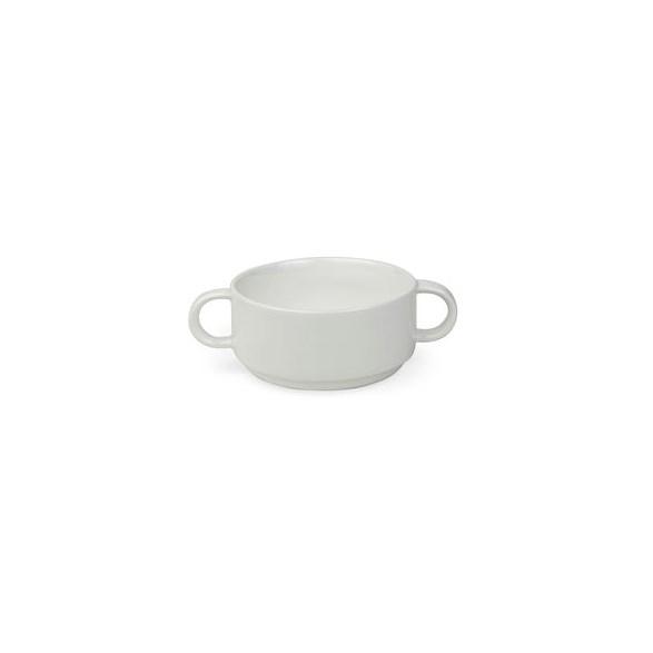 Exxent Soppskål, med handtag, Förstärkt benporslin, 6 st