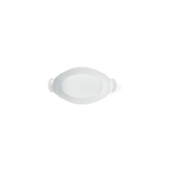 Exxent Ägglåda 26x14 cm, oval, Fältspatporslin, 6 st