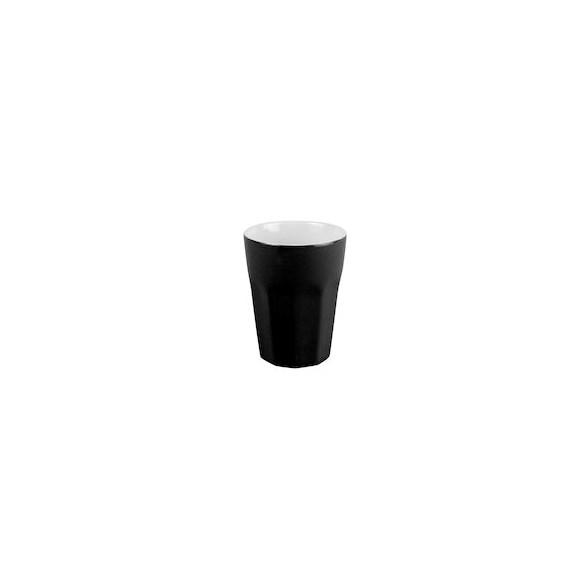Exxent Mugg 8 cl Bologna Svart, Fältspatporslin, 6 st