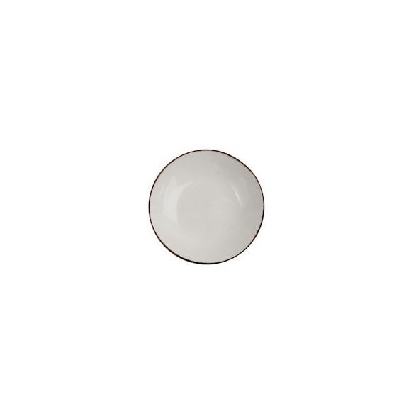 Xantia Tallrik flat Ø 22,5 cm Fortuna Beige, Stengods, oregelbunden kant, 4 st