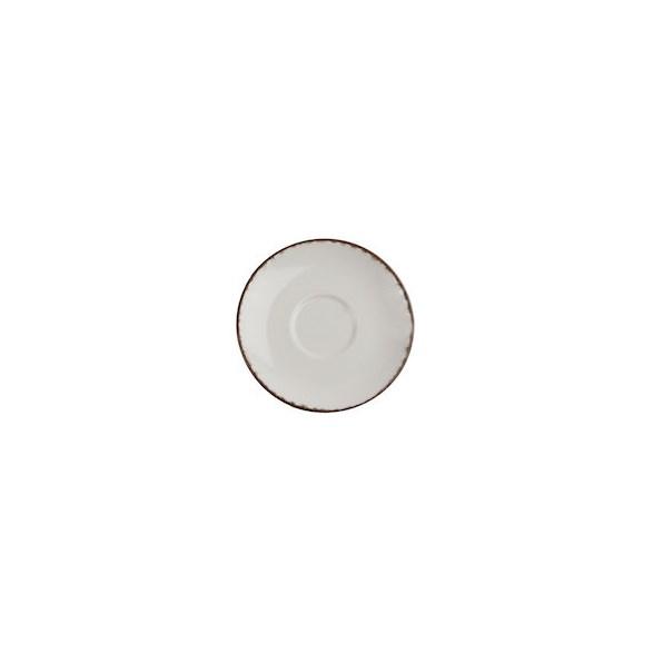 Xantia Espressofat Ø 13,5 cm Fortuna Beige, Stengods, oregelbunden kant, 6 st