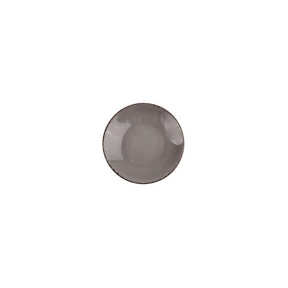 Xantia Tallrik djup Ø 22,5 cm Fortuna Grå, Stengods, oregelbunden kant, 4 st