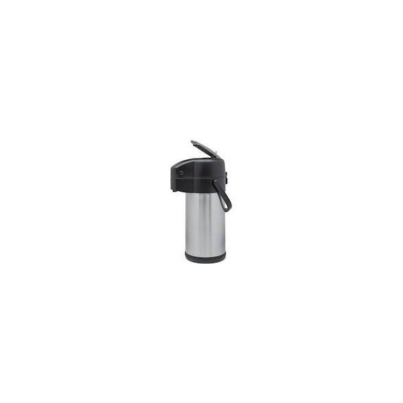 Exxent Pumptermos 3,0 L med hävarm, Rostfri insats, hävarm i metal