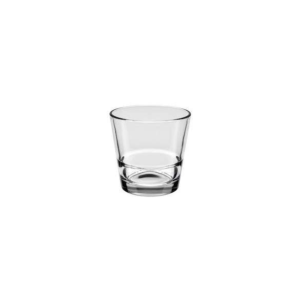 Merx Team Whiskyglas 21 cl Stack Up, Härdat glas, stapelbar, 24 st