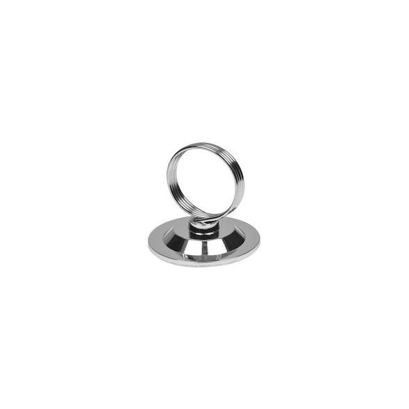 Exxent Menyhållare med ring, Zink + järn, förkromat