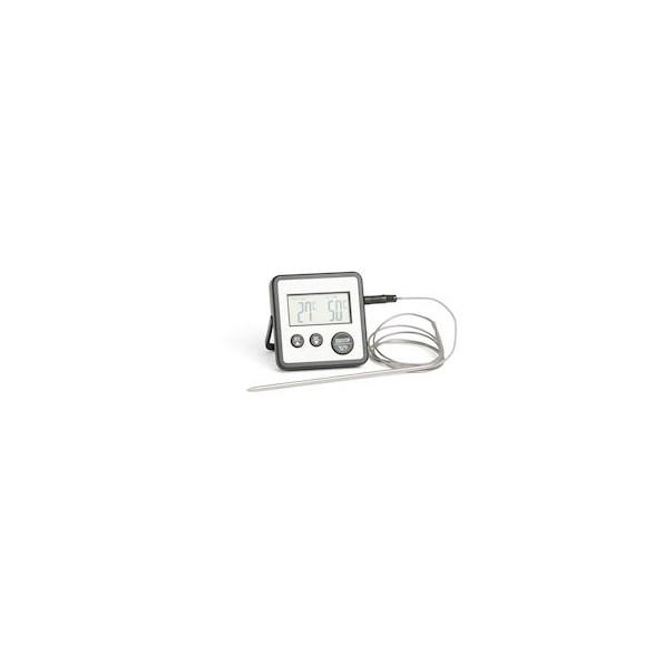 Exxent Digital stektermometer, timer, Rostfritt, svart
