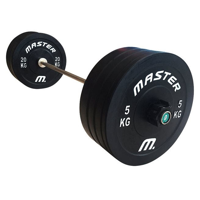 Skivstångsset Crossfit 100 kg, Skivstångset