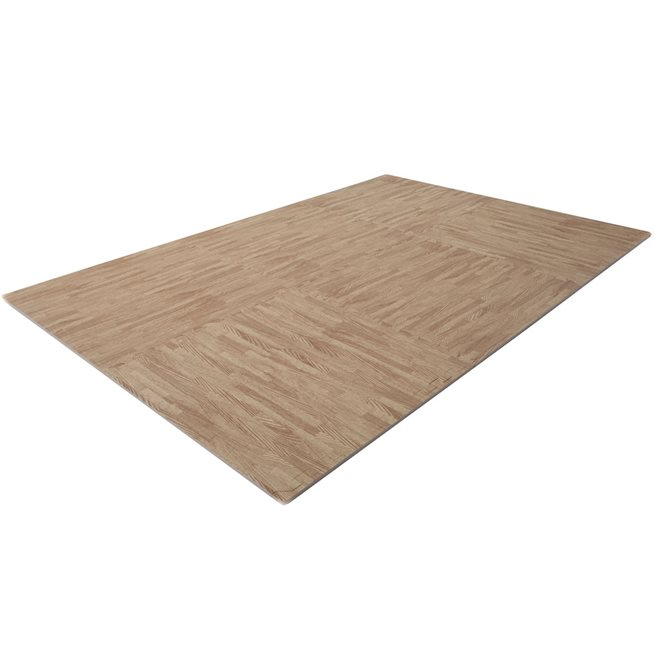 Finnlo Puzzle Mat parquet floor design (light brown)