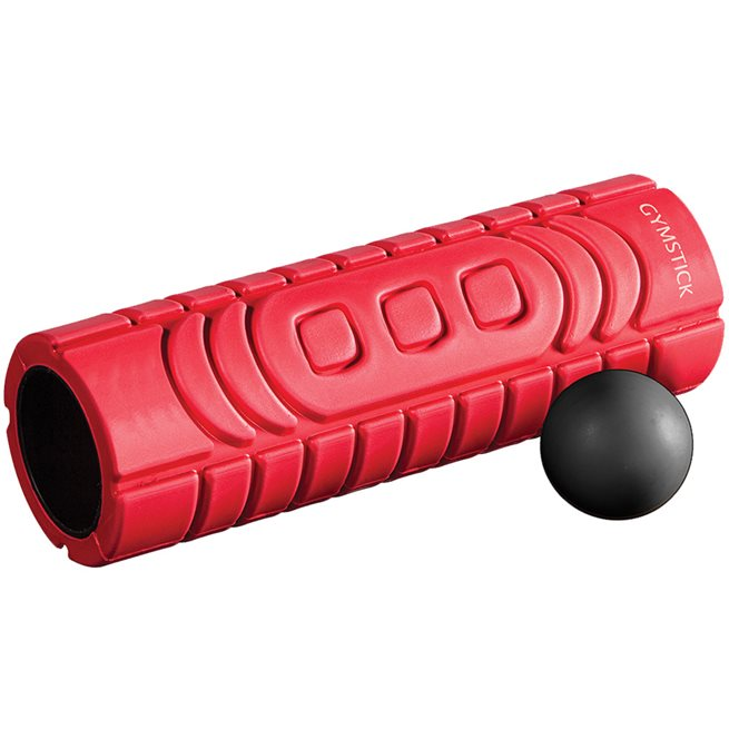 Gymstick Travel Roller with Myofascia Ball