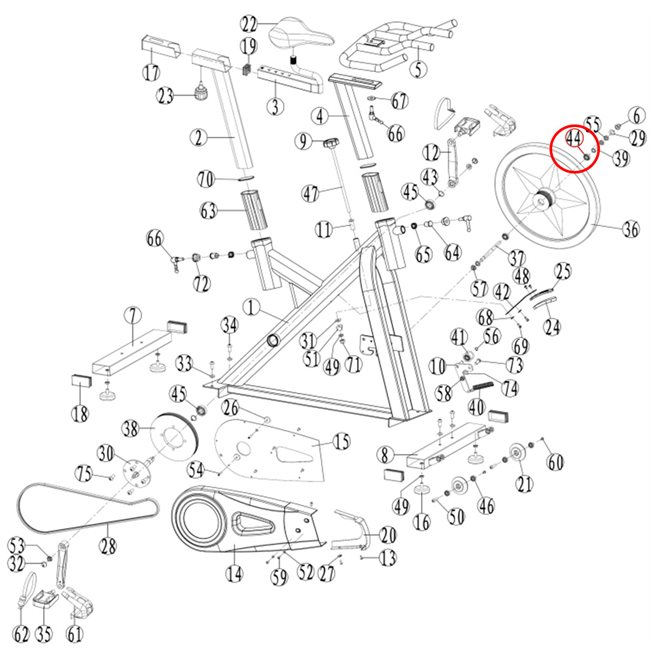Abilica Racer WMN Bearing 44