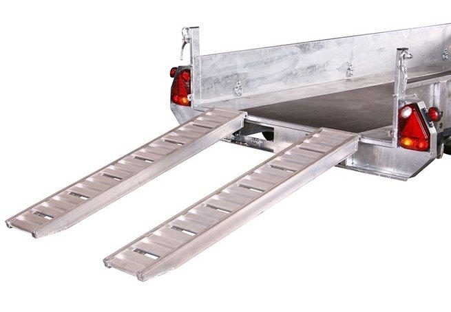 Uppkörningsramp ALU 2580 x 350 mm - 3000 kg, Rak
