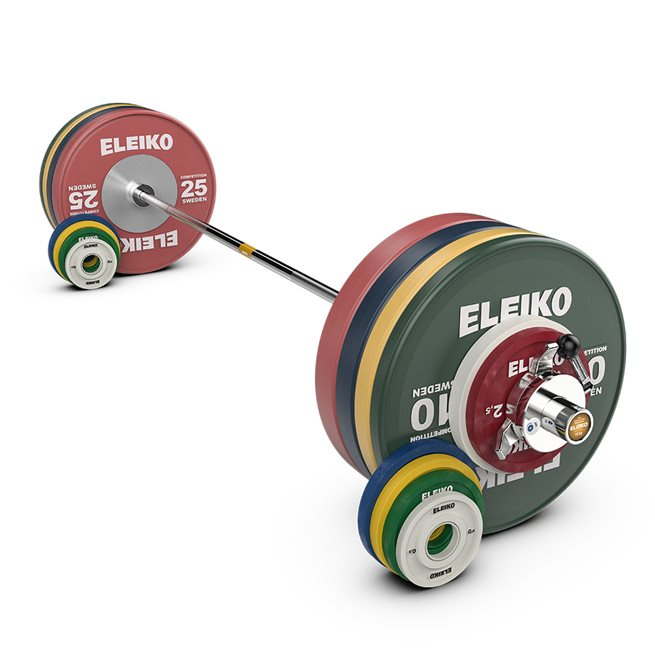 Eleiko IWF Weightlifting Competition Set, Nxg- 185 kg ,Women, Fg, Skivstångset