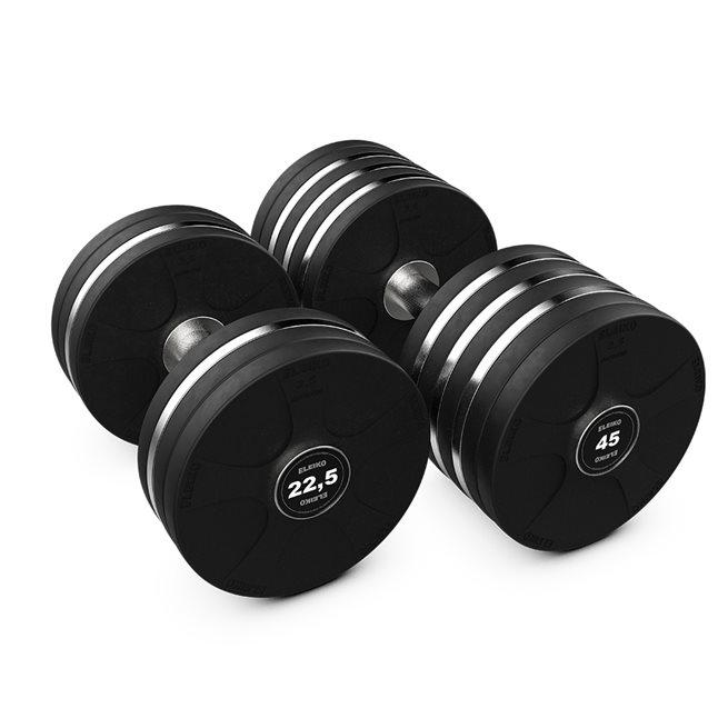 Eleiko Vulcano Disc Dumbbell Set - 22,5 - 45 kg, Hantelset