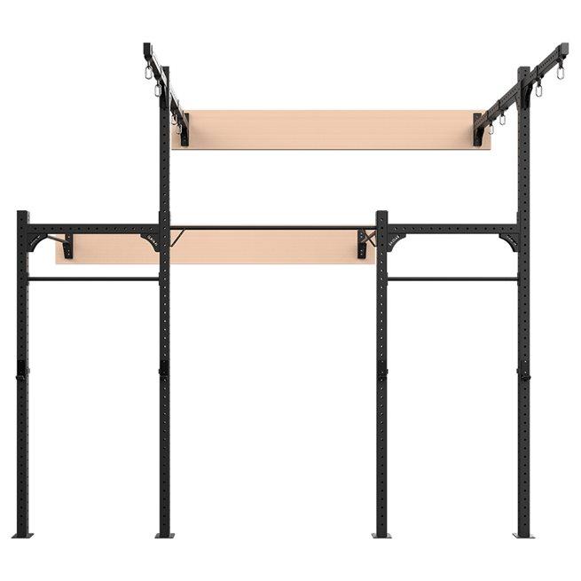 Eleiko Wallmounted 4,2M XF 80 Rig W/ Rings/Ropes, Crossfit rig
