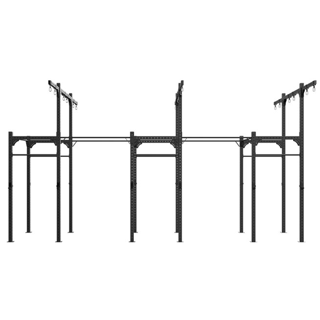Freestanding 7,2M XF 80 Rig W/ Rings/Ropes, Crossfit rig