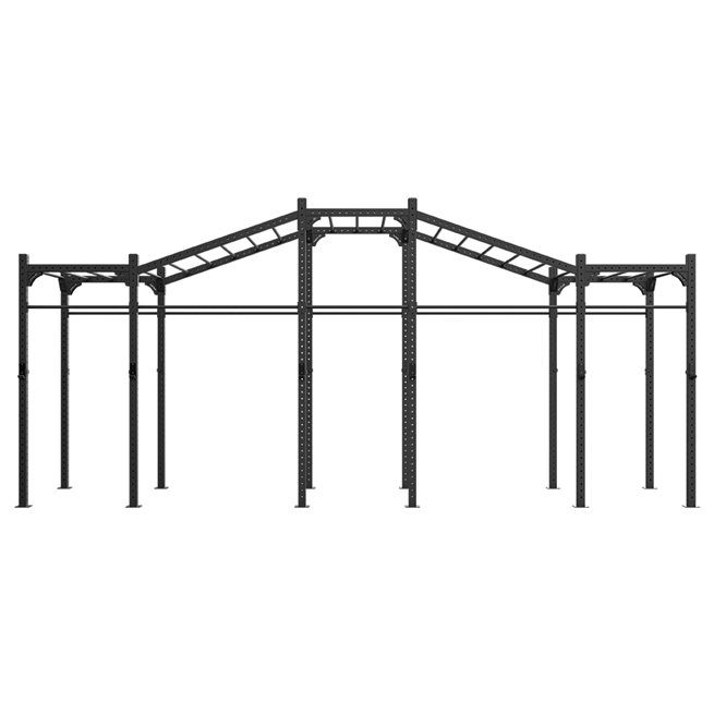 Eleiko Freestanding 7,2M XF 80 Rig W/ Monkeybars/Rings/Ropes, Crossfit rig