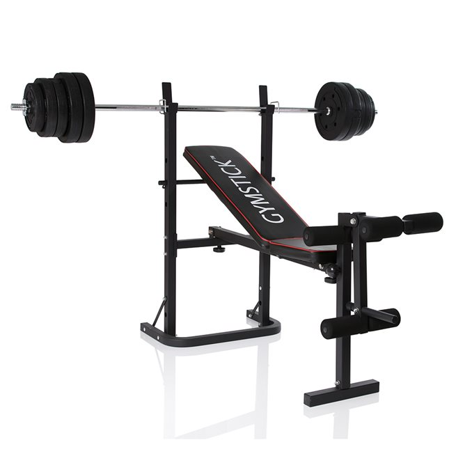 Gymstick Weight Bench with 40kg Set