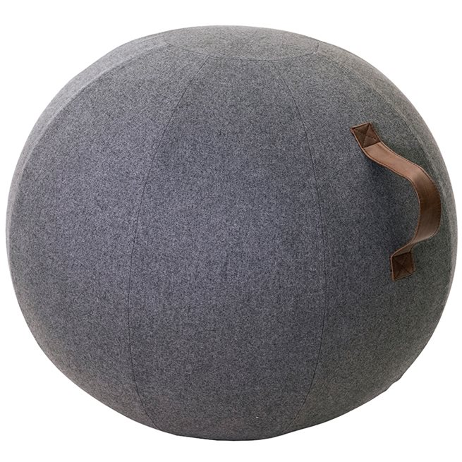 JobOut Balanseball Design, Stoff, Mørk grå