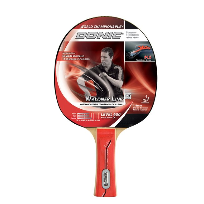 DONIC Racket Waldner 600 inkl DVD med J-O