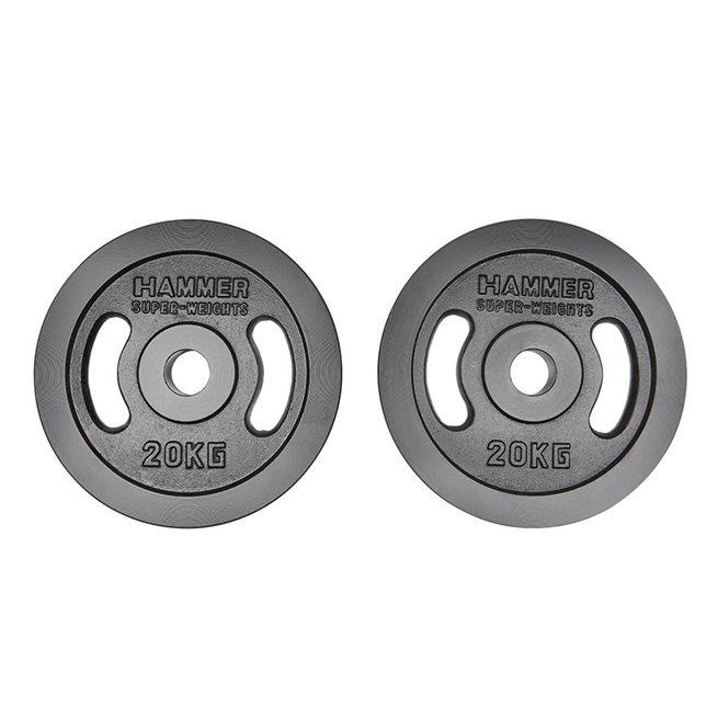Hammer weight discs 50 mm (Pair)