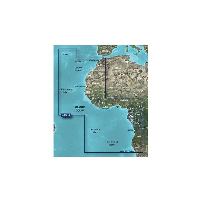 Western Africa Garmin microSD™/SD™ card: HXAF003R