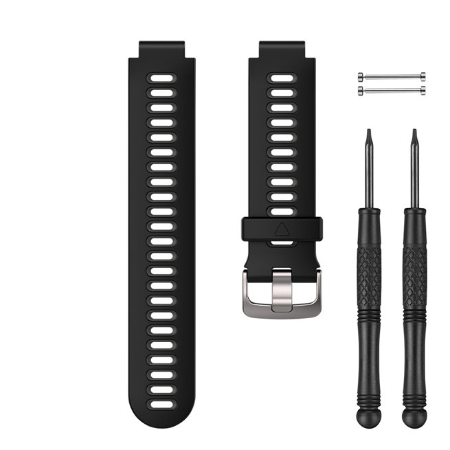 Garmin Svart/grått klockarmband i silikon