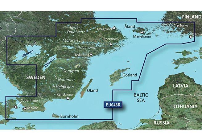Sverige, Sydöst Garmin VEU046R - BlueChart g3 Vision mSD/SD