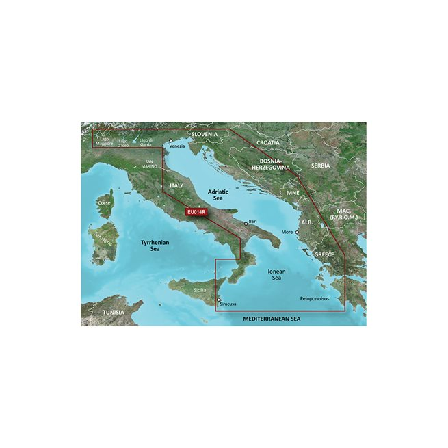 Italy, Adriatic Sea Garmin microSD™/SD™ card: VEU014R