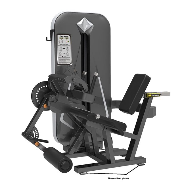 FitNord FitNord Diamond Double Leg extension/Leg curl