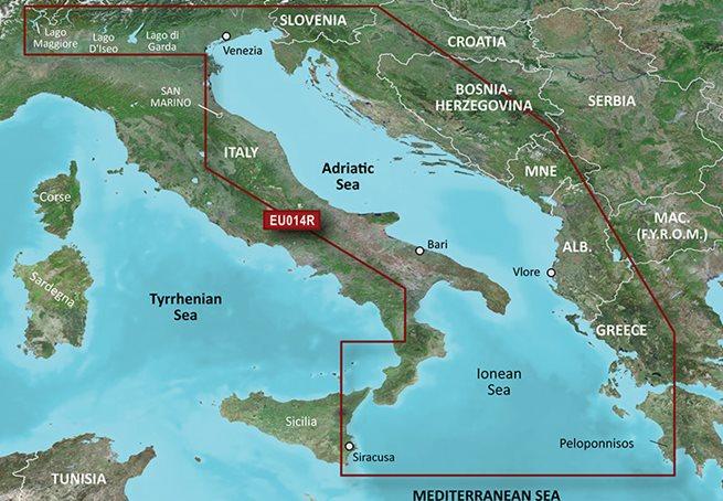 Italy, Adriatic Sea Garmin microSD™/SD™ card: HXEU014R