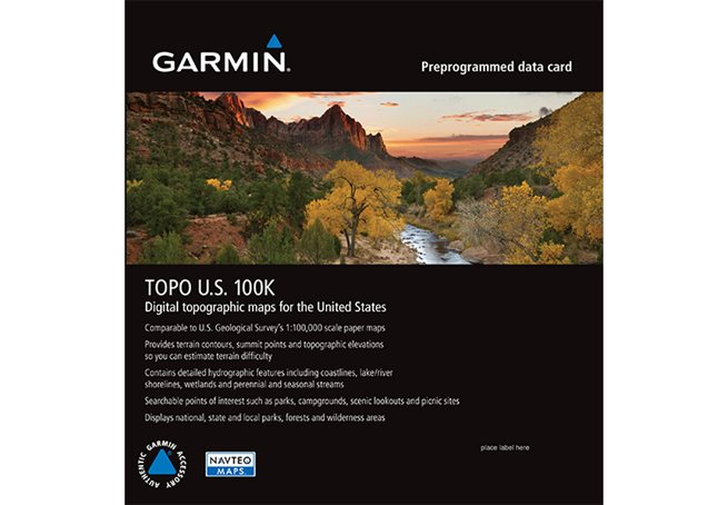 TOPO U.S. 100K Garmin microSD™/SD™ card