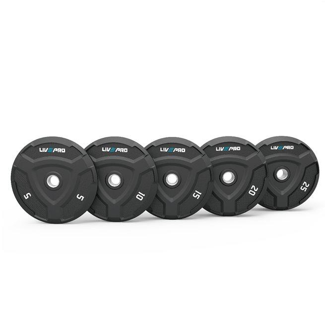 LivePro Rubber Warrior Bumper Plate 50 mm