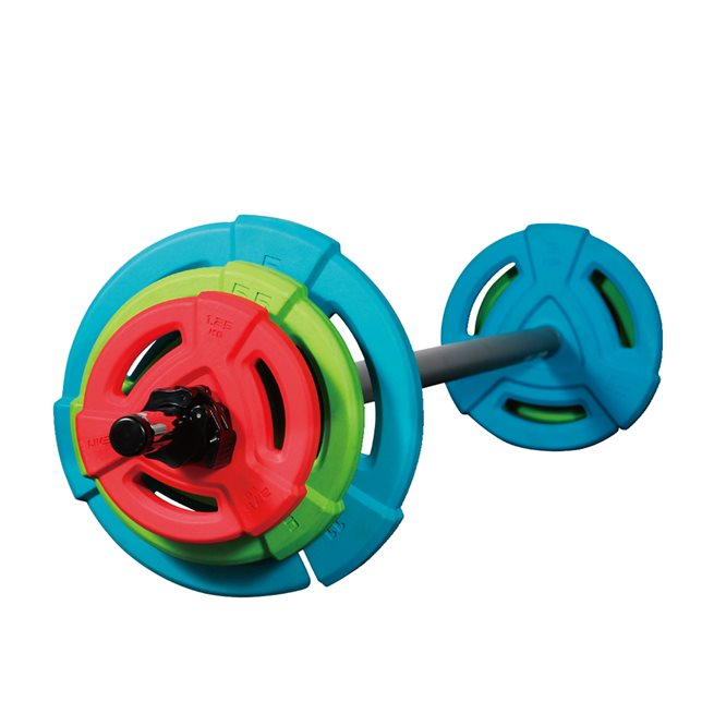 Studio Rubber Barbell Set 20 kg