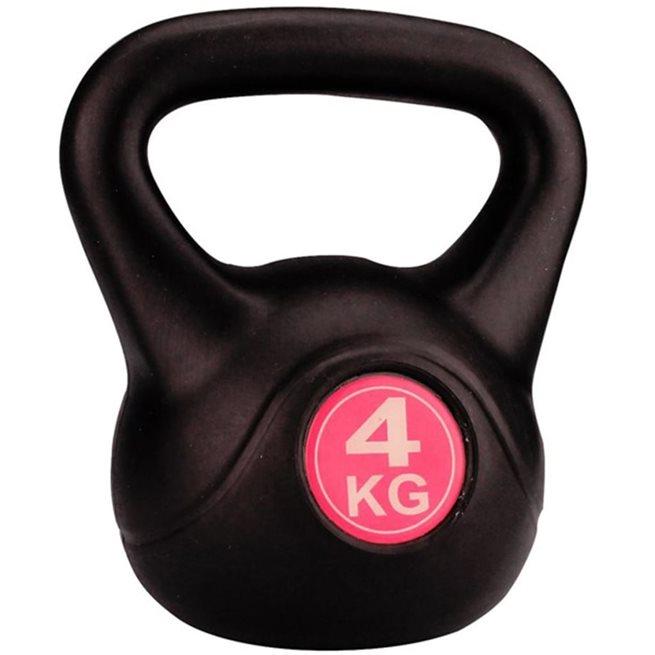 vidaXL Kettlebell 4 kg svart