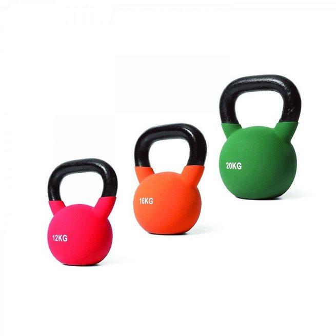 Apiro Sport Neoprene Kettlebell Colored set 4-32 kg, Styrkepaket