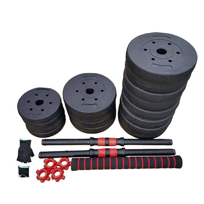 Titan LIFE Dumbbell & Barbell weightset 40kg, Skivstångsset