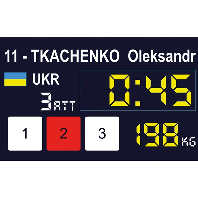 Eleiko Easy Weightlifting International Scoreboard System