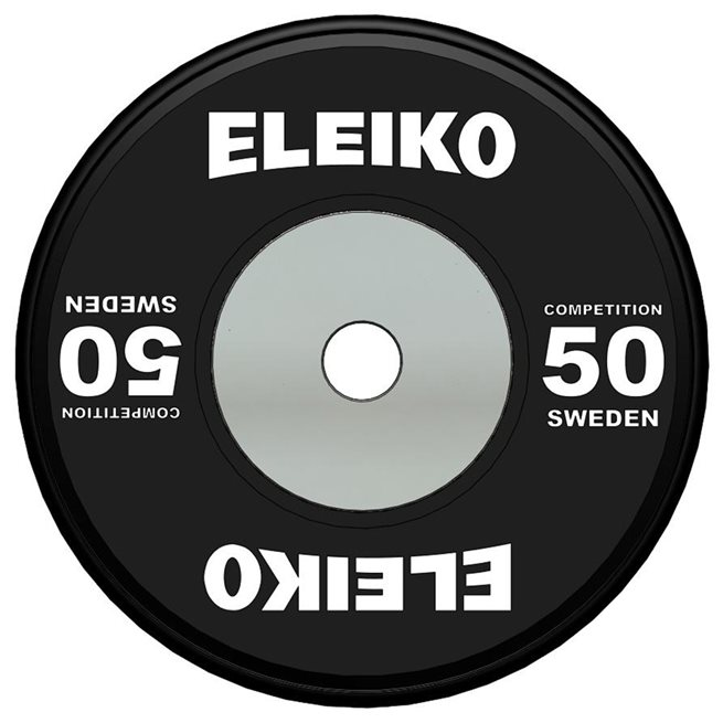 WPPO Powerlifting Competition Disc, Viktskiva Gummerad