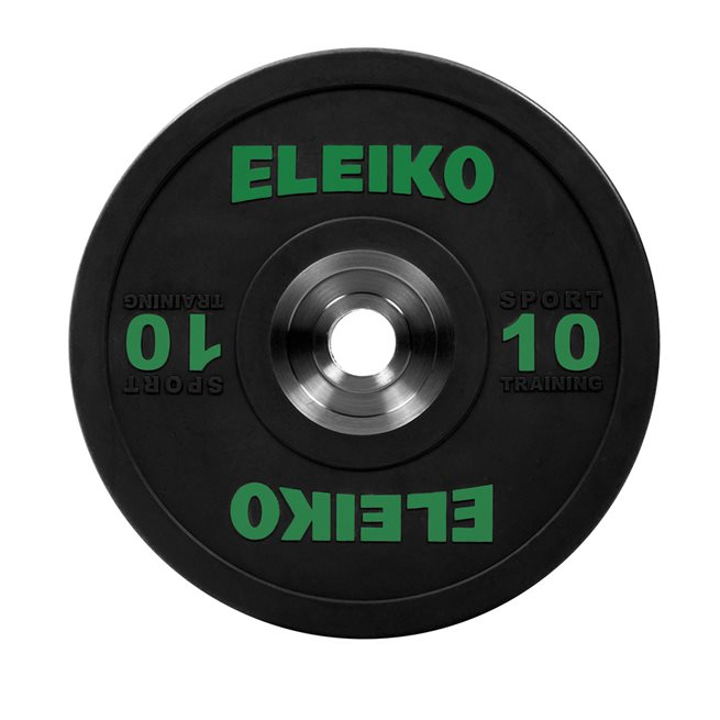 Eleiko Sport Training Disc - Black, Viktskiva Gummerad