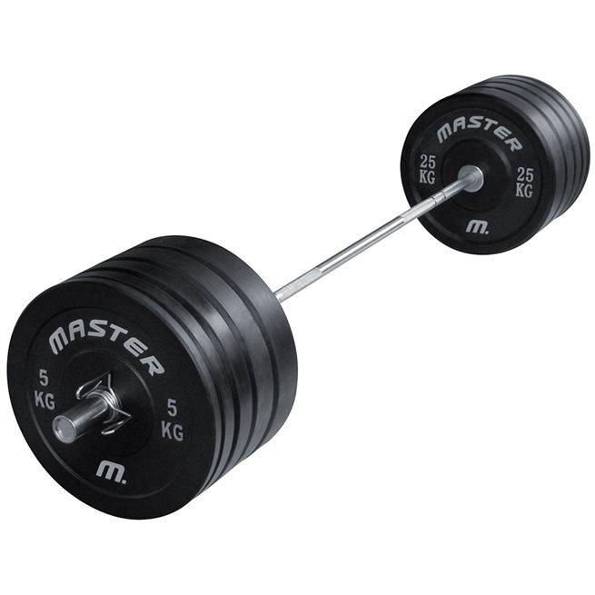Master Skivestangsett Crossfit 170 kg